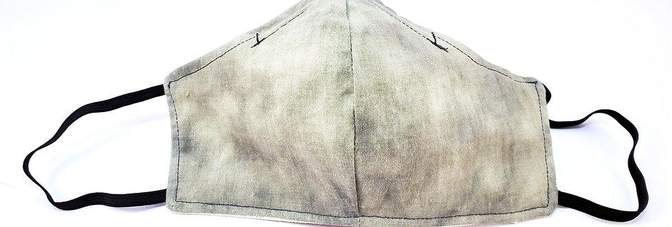 Mask, Kahki Tie Dye Face Mask, Reusable/Washable, Cotton, Filter Pocket