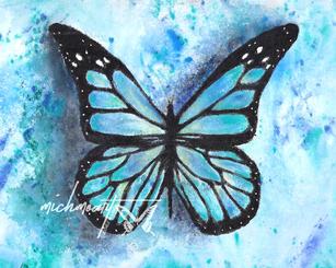 Rainbow Blue Butterfly