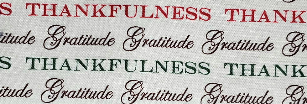 Mask, Gratitude, Thankfulness, Reusable/Washable, Cotton, Filter Pocket