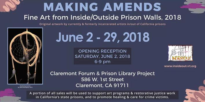 "June 2018 ""Making Amends"" Claremont Forum PLP/InsideOut Art Show"