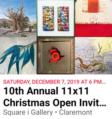"""December 2019 """"11x11 Show"""" hosted bySquare i Gallery"""