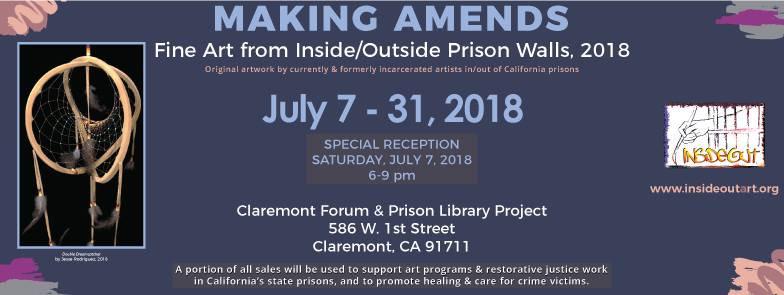 "July 2018 ""Making Amends"" Claremont Forum PLP/InsideOut Art Show"