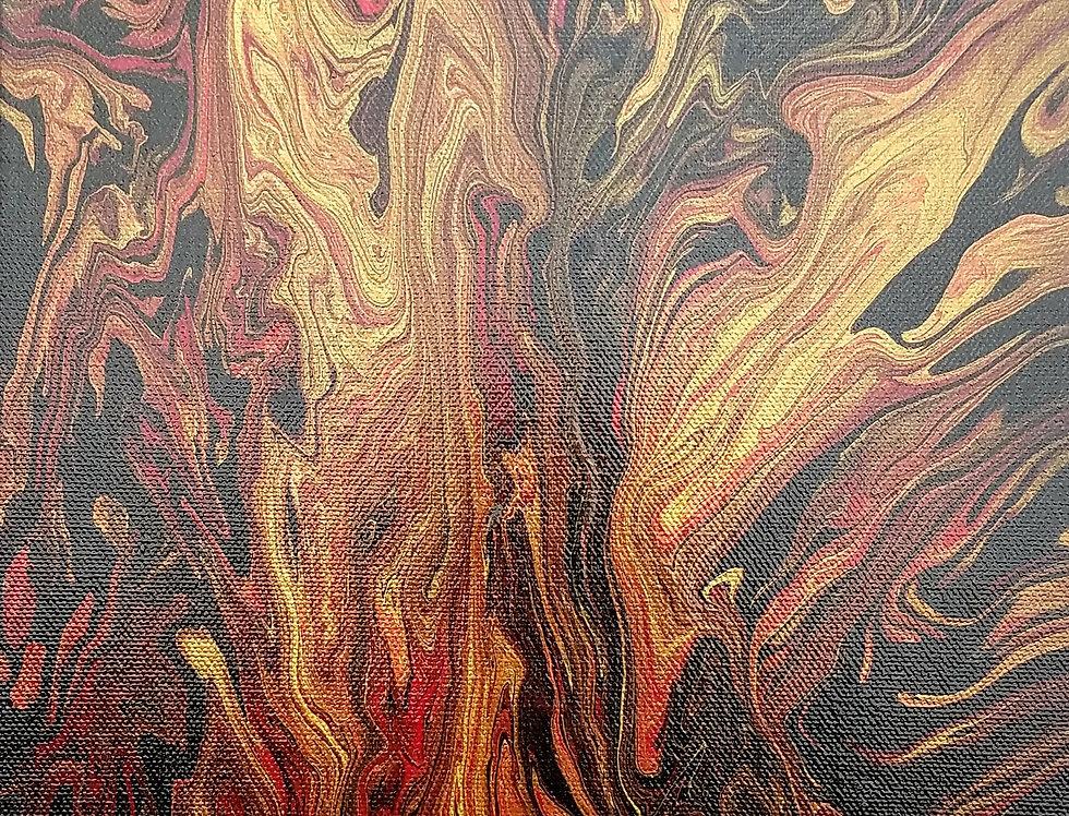 """Uncontrolled Emotions"" Acrylic Painting 10""x 20"" | MichMoArt"