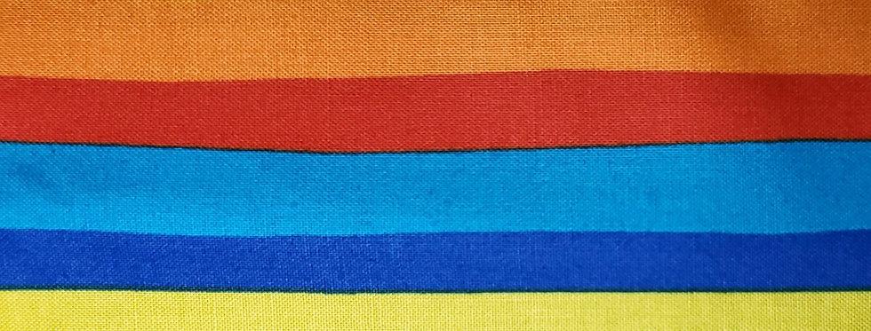 Mask, Pride Colors, Rainbow Color, Reuse/Wash, Cotton, Filter Pocket