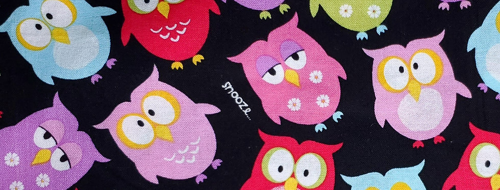 Mask, Owl, Snooze Time, Face Mask, Reusable/Washable, Cotton