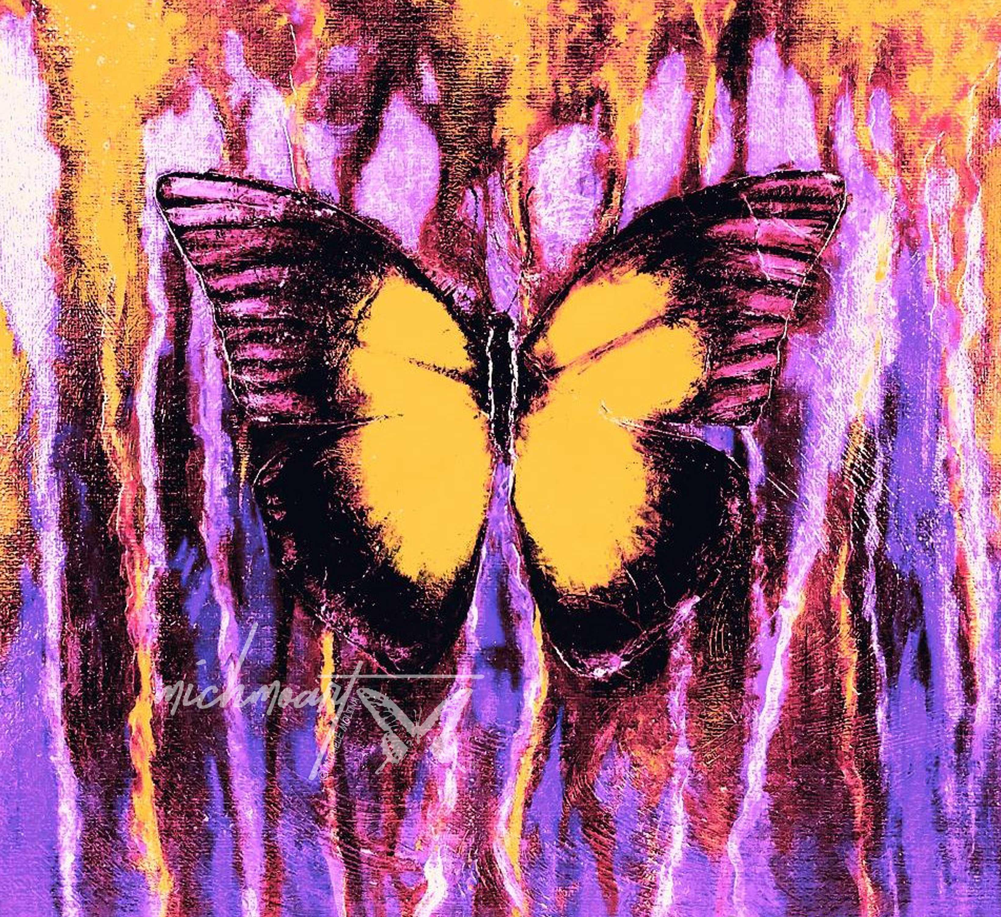 """Reminisce Butterfly""- Purple & Yellow"