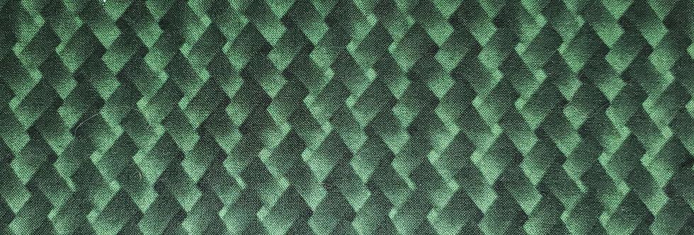 Mask, Green Basket Weave print. Face Mask,Reusable/Washable,Cotton,Filter pocket