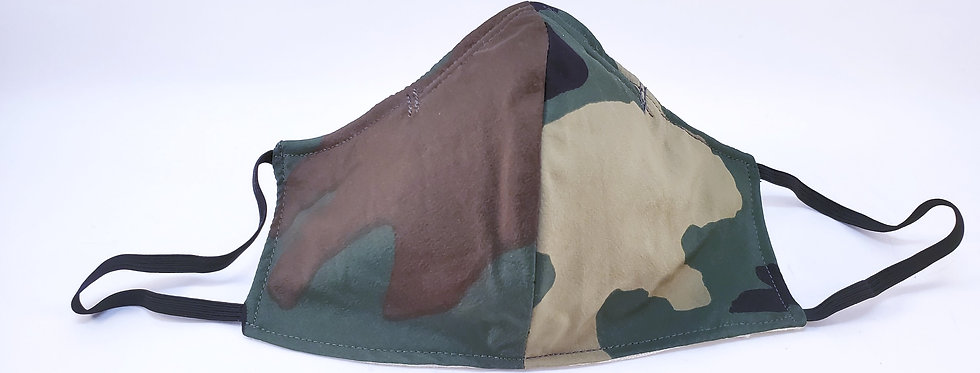 Mask, Camouflage Print, Reusable/Washable, Cotton, Filter Pocket
