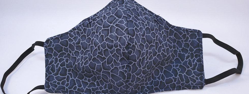 Mask, Steel Gray Rock Face Mask, Reusable/Washable, Cotton, Filter Pocket