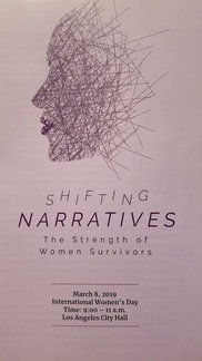 """March 2018 """"Shifting Narratives-The Strength of Women Survivors"""""""