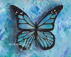 """Blue Rainbow Butterfly"""