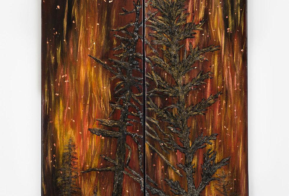 Holy Fire Fury, Resin Art