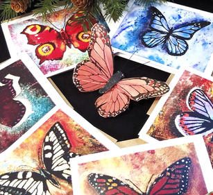 Butterfly Card Set (6) - Blank Inside