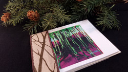 SPOOKY TREE Card Set for HALLOWEEN-6 Blank Note Cards w/ 6 Recycled Envelopes, Dripping Spooky Tree,
