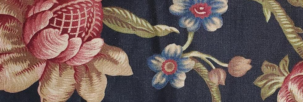 Mask, Black Large Floral print, Face Mask,Reusable/Washable, Cotton,Filte