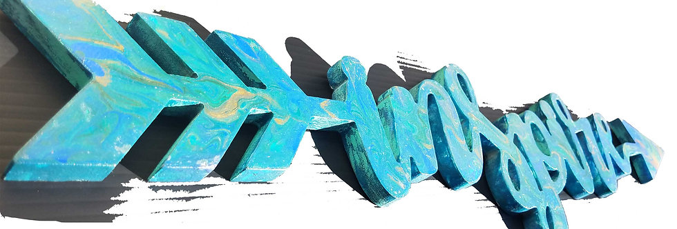 """INSPIRED Sign 30"""", Wall Art, Acrylic painted wooden sign"""