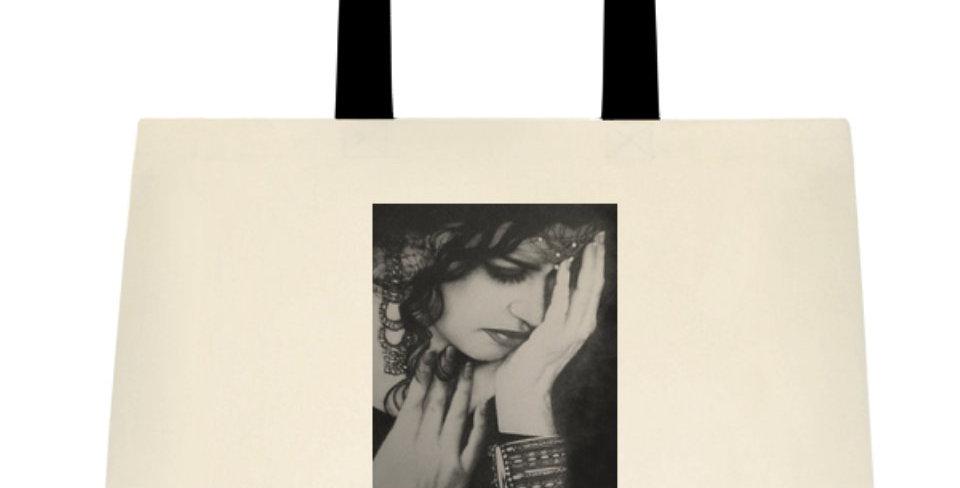 """Canvas TOTE / HANDBAG with Original Art """"Flamenco Dancer"""""""