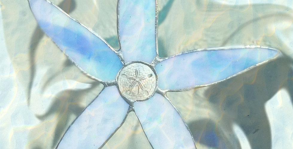 "Stained Glass Starfish 7"", Suncatcher, Window hanging decor, Glass Art"