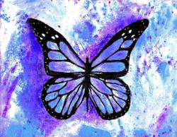 """""""Purple Rainbow Butterfly"""""""
