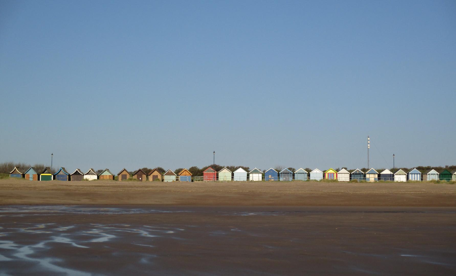 Beach huts at Sutton on Sea