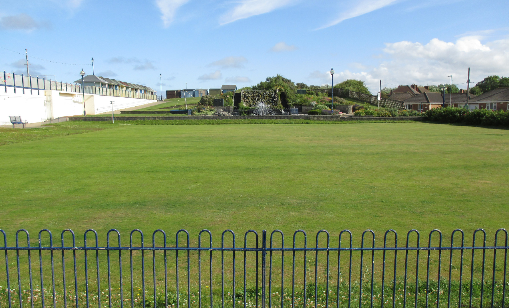 Bowling green in the pleasure gardens