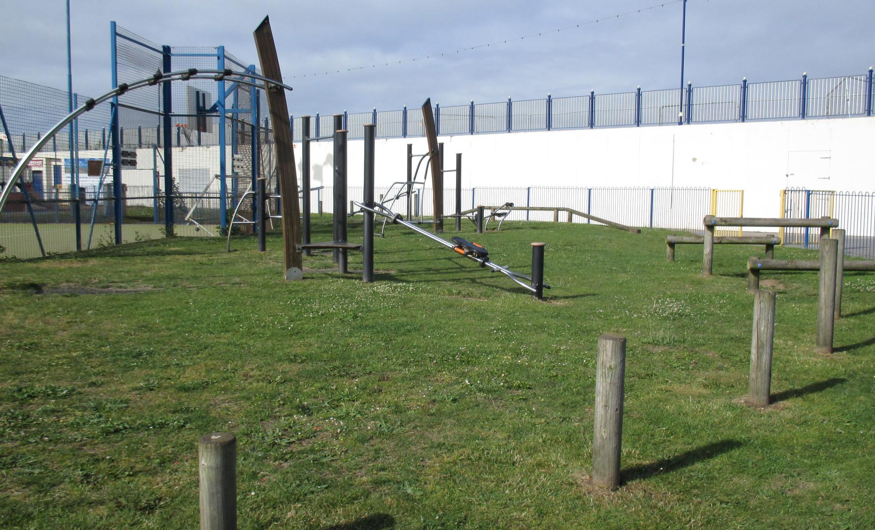 Children's play area in the pleasure gardens