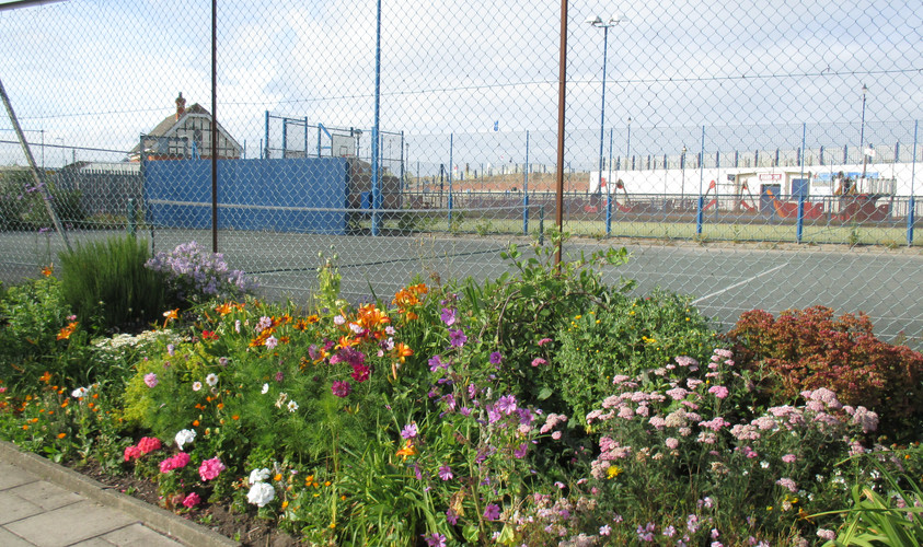 Tennis courts at the pleasure gardens