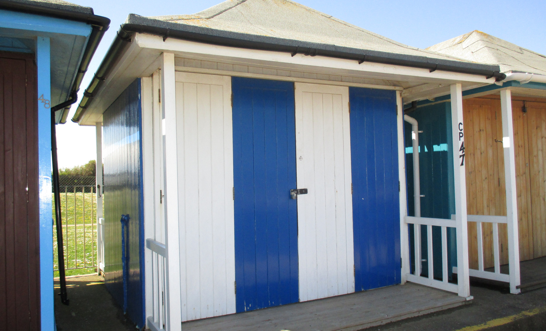 Our beach hut which is available to rent