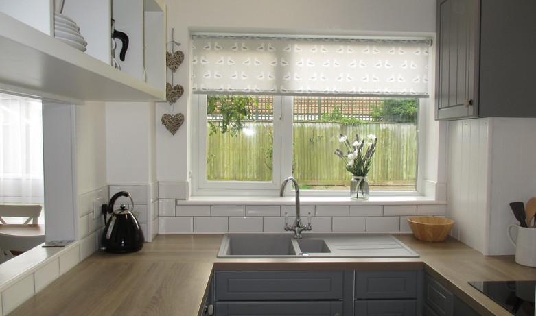 Kitchen view into garden