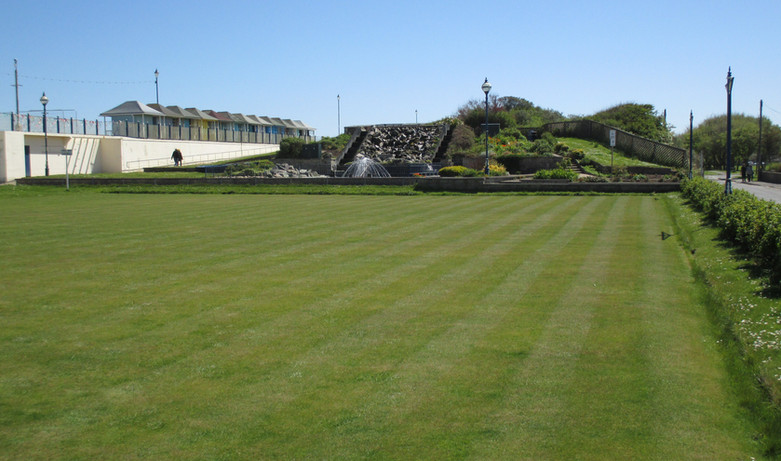 The bowls green
