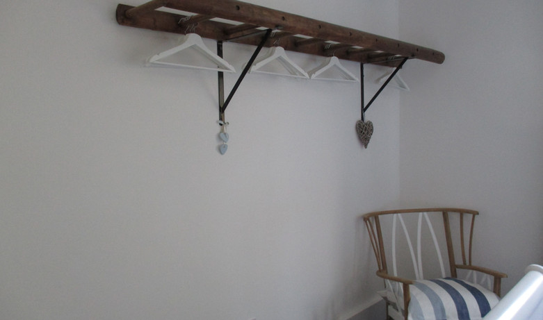 Master bedroom hanging for clothes