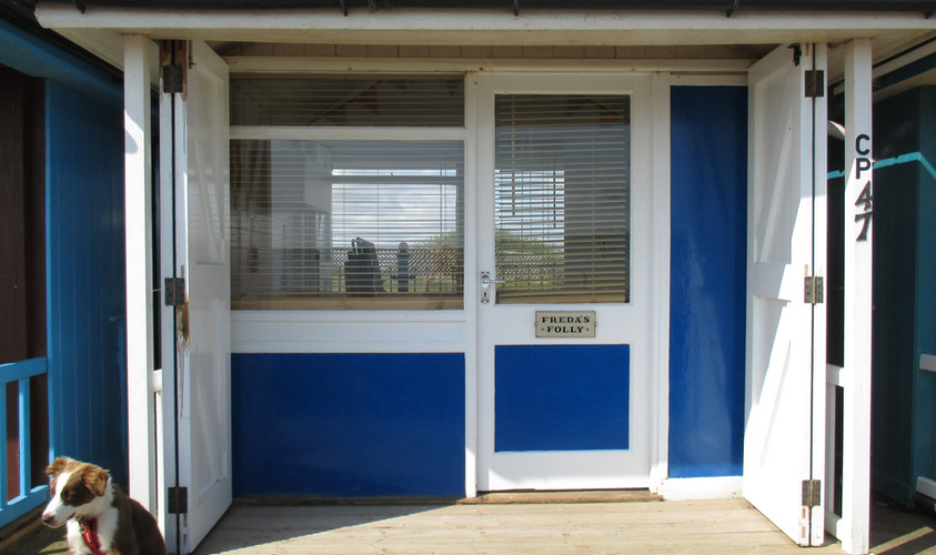 'Freda's Folly' our beach hut