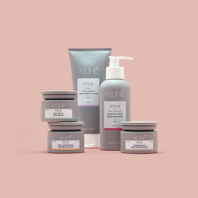 Compact composition of Keune haircare line