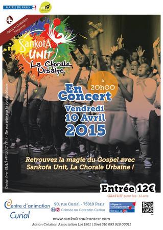 La chorale Sankofa UNIT met le feu à l'Espace Curial de Paris 19eme