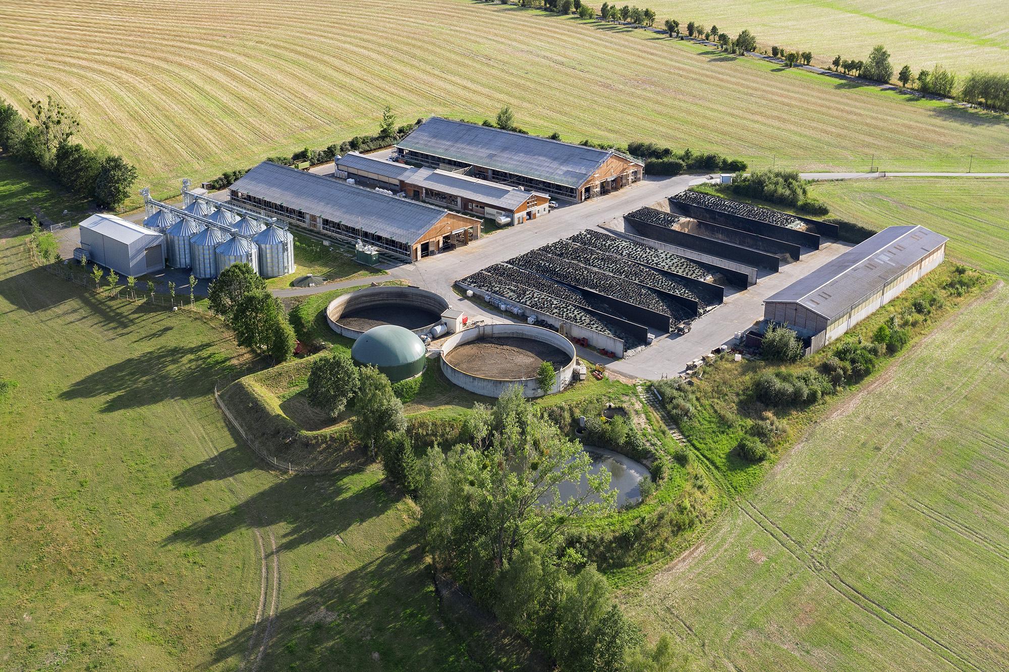 Luftaufnahme Agrar-Immobilie