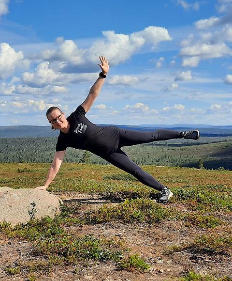 Personal trainer Kaunispään huipulla