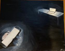 The Distraction of Distance (2021; acrylic paint)