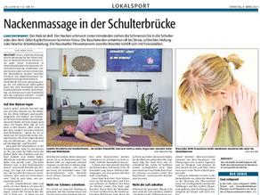 """DIE RHEINPFALZ vom 9.März 2021: """"Nackenmassage"""""""