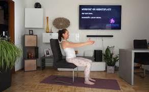 Trailer: Workout am Arbeitsplatz mit Stuhl