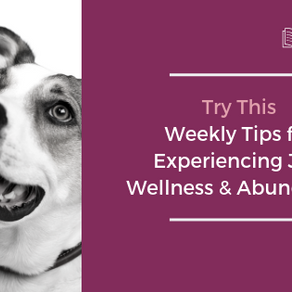 Try This | Weekly Tips for Experiencing More Joy, Wellness and Abundance