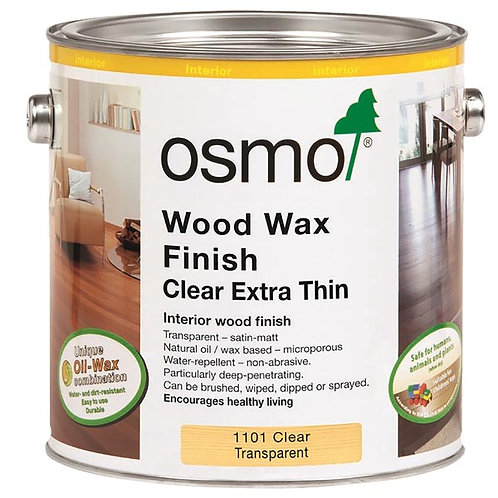 Osmo Wood Wax Finish Extra Thin Clear Satin 1101
