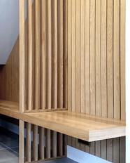 Under-stair seating in European Prime Oak.  Designed by @cassidyhughes #Oak.jpg
