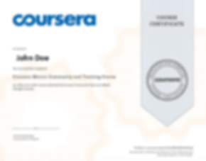 coursera certificate sample