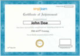 simplilearn certificate sample