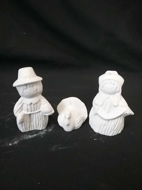 Yarn doll pilgram set