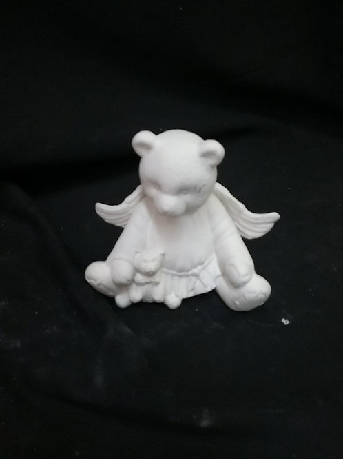 Angel bear with teddy bear