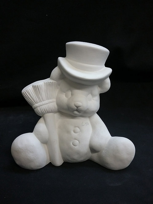 Bear with broom and top hat