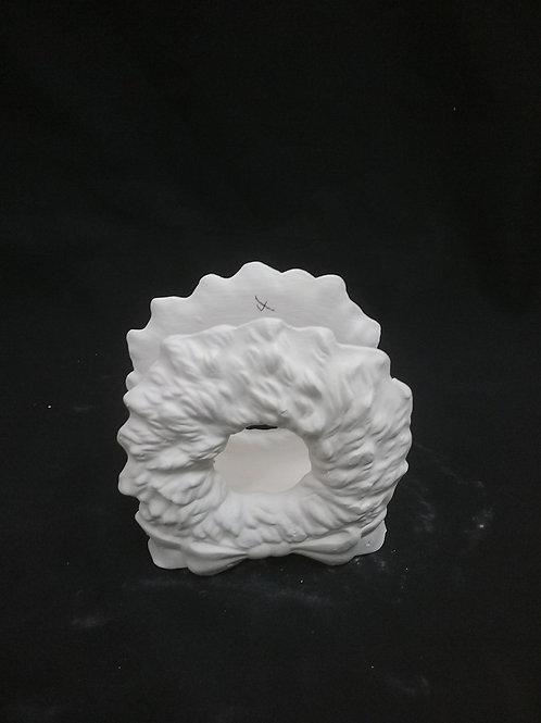 Wreath napkin holder