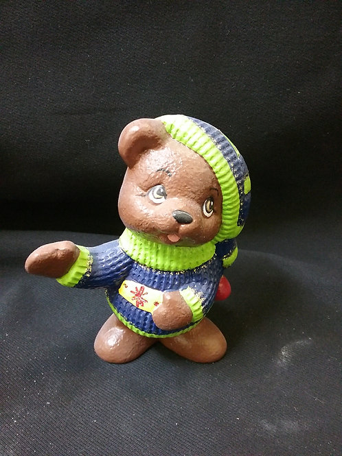 Bear with sweater standing
