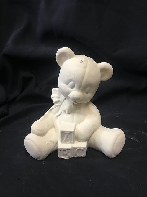 Bear with blocks bank
